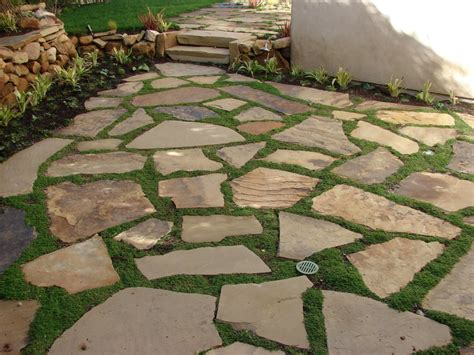 what to put between flagstones on a patio soft set flagstone patio with ground cover yelp
