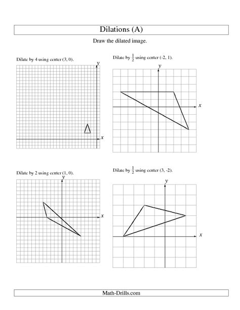 math dilation worksheet math worksheets on scale factors