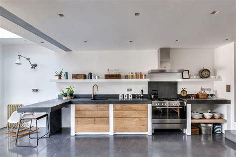 cement floors in kitchen cucina in muratura 70 idee per cucine moderne rustiche 5157
