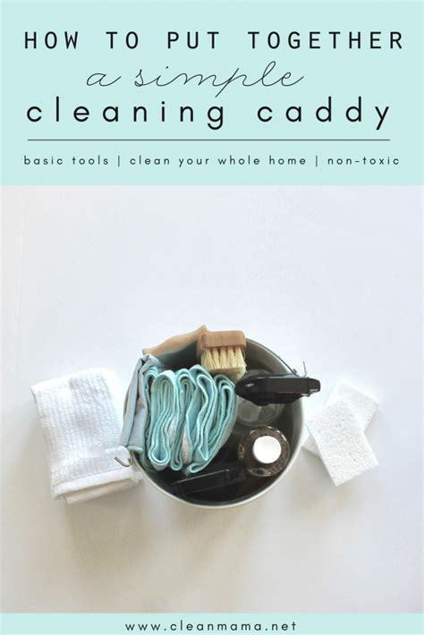 How To Put Together A Simple Cleaning Caddy  Clean Mama