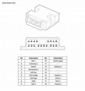 Kia Sorento  Seat Heater Circuit Diagram