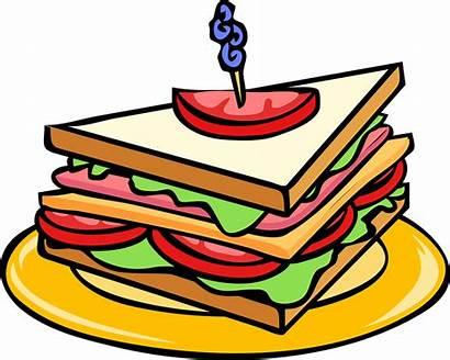 Sandwich Club Triangle Pixabay Snack Vector Bread