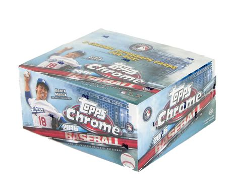 Cash wraps, retail counters, trophy cases, jewelry cases 2016 Topps Chrome Baseball Hobby Jumbo 8-Box Case | DA Card World