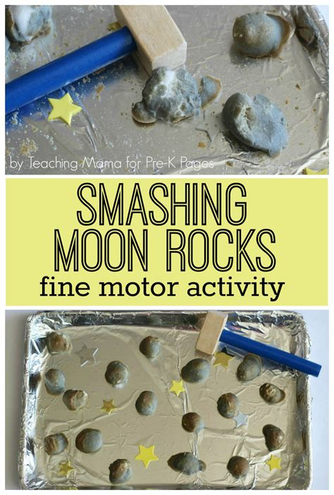 moon rocks motor activity pre k pages 349 | Smashing Moon Rocks fine motor activity