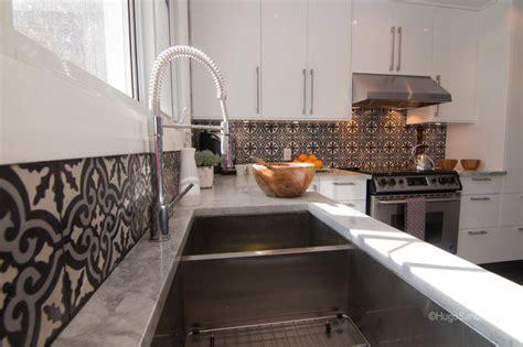 subway tile mosaic backsplash cement tiles backsplash contemporary kitchen