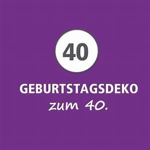Deko 40 Geburtstag Selber Machen : deko 40 geburtstag frau diedekoration ~ Frokenaadalensverden.com Haus und Dekorationen