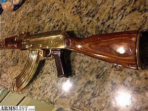 ARMSLIST - For Sale: Ak47 gold plated