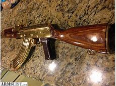 ARMSLIST For Sale Ak47 gold plated