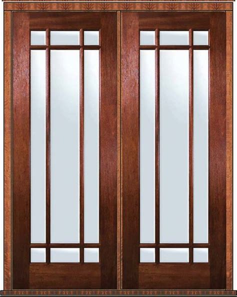 prehung patio door 96 wood mahogany 9 lite marginal