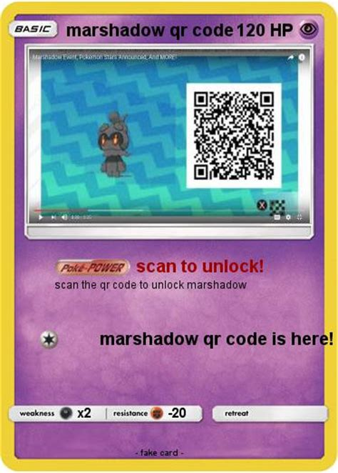 Marshadow Qr Code For Pokemon Ultra Sun And Moon