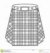 Kilt Tartan Scozzese Scottish Outline Scotland Skirt Icon Scozia Singola Azione Simbolo Uomini Icona Vettore Nelle Gonna Degli Lo Della sketch template