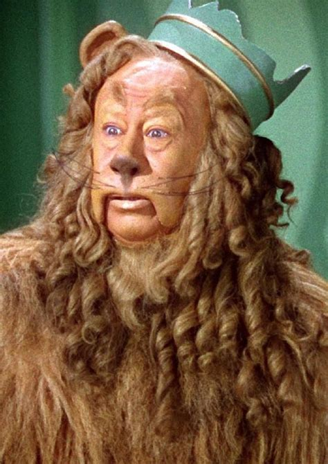 Burt Lahr in the Cowardly Lion costume from The Wizard of