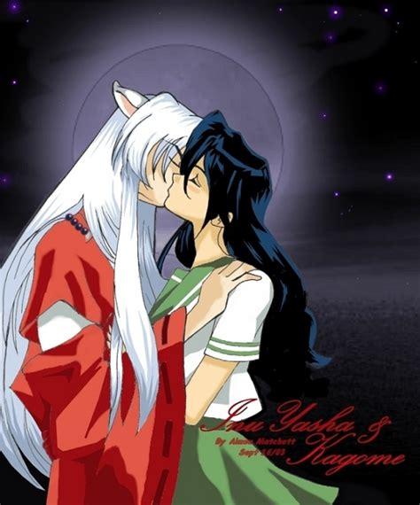 Kiss Anime Mobile Inuyasha Inuyasha Kissing Kagome By Xale On Deviantart