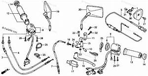 Honda Motorcycle 1992 Oem Parts Diagram For Switch