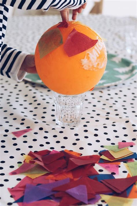 heißluftballon selber bauen diy bastelkleber kleister einfach selber machen basteln basteln bastelei