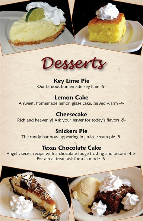 Dessert & Drink Menu on Behance