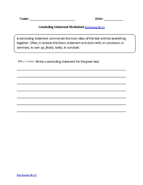 2nd grade common core writing worksheets