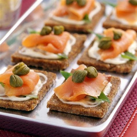 healthy canapes dinner smoked salmon canapes recipe smoked salmon