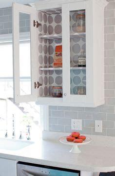 wallpaper inside kitchen cabinets wallpaper cabinets on bead board wallpaper
