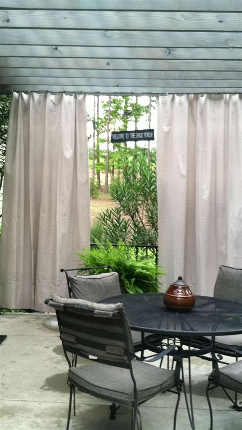 outdoor curtains from painters canvas drop cloth