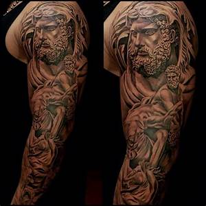 Religious tattoo sleeve. | Amazing Artwork By Jun Cha ...