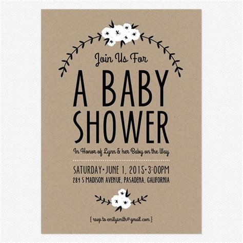 simple baby shower invitations adorable free printables baby shower announcements
