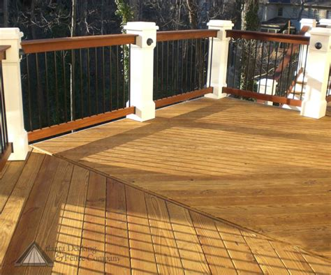 pressure treated lumber deck project