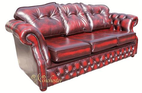 Chesterfield Settee by Oxblood Chesterfield Sofa Vintage Distressed Oxblood