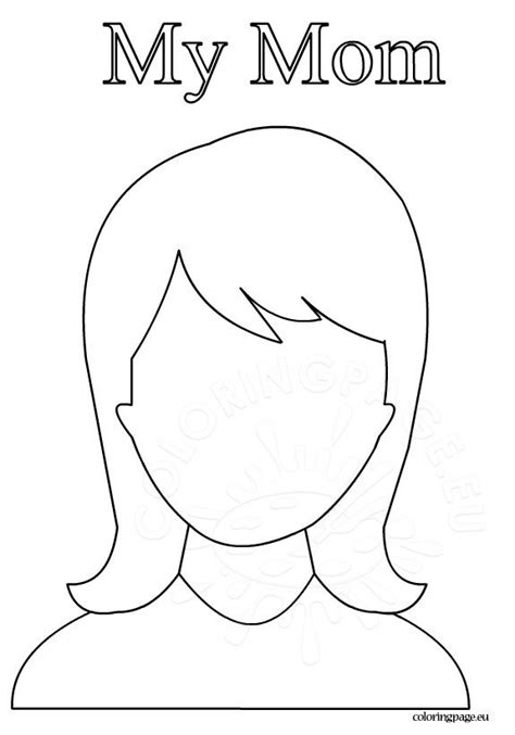 mom coloring page coloring page