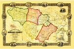 Vintage Map of Howard County, Maryland 1860 Art Print by ...