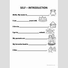Introducing Oneself Worksheet  Free Esl Printable Worksheets Made By Teachers