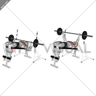Decline Bench Grip Triceps Press by Barbell Decline Wide Grip Press