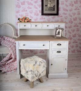 Schreibtisch Vintage Weiß : nostalgischer schreibtisch shabby chic weiss retro antik ~ Lateststills.com Haus und Dekorationen