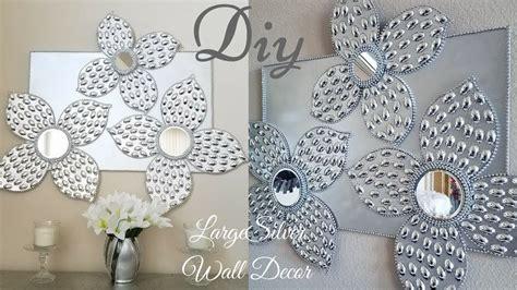 Diy Large Silver Wall Decor Using Dollar Tree Items simple
