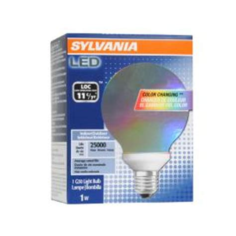 shop sylvania color changing led g30 specialty light bulb