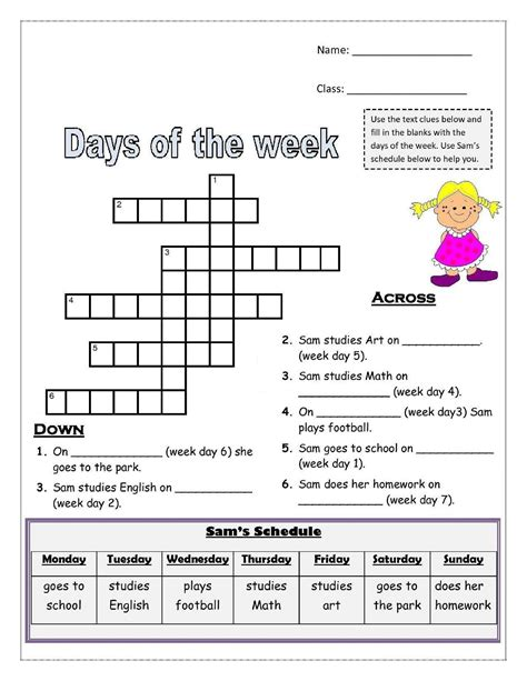 days   week worksheets activity shelter