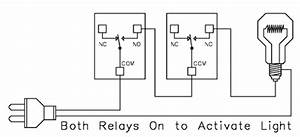 relay logic With no nc relay wiring