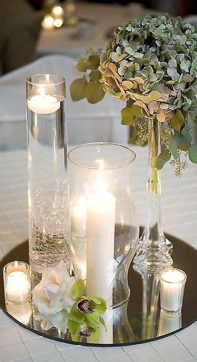 simple and elegant mirrored centerpiece mix and match