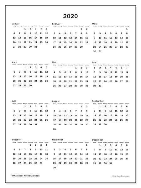 kalender ms michel zbinden de