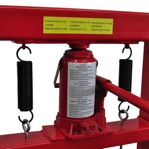 12-ton Hydraulic Heavy Duty Floor Shop Press | vidaXL.com.au