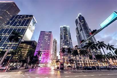 Miami Downtown Streets Night Skyline Shutterstock Street