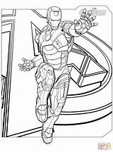 Coloring Avengers Iron Printable Drawing Paper Superhero Crafts sketch template