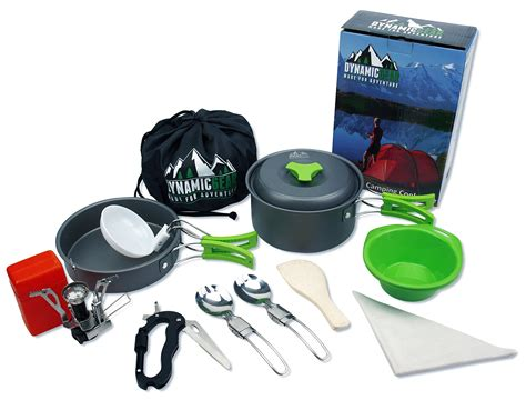 camping mess kit gear hiking cooking backpacking cookware equipment lightweight portable survival stove scouts outdoor cookset piece compact 13pcs persons