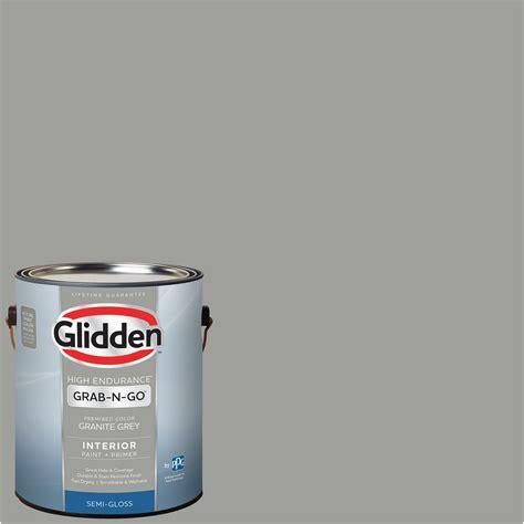 glidden pre mixed ready to use interior paint and primer granite grey 1 gallon walmart