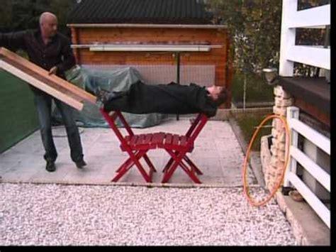 sur chaise magie catalepsie sur chaise