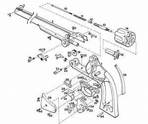 70 Smith  U0026 Wesson Revolver Exploded Parts Diagram Auto Pistol Gun Owners Manual