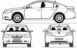 2009 Opel Insignia Hatchback Blueprints Free