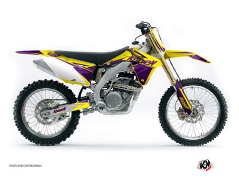 Suzuki 450 Dirt Bike by Suzuki 450 Rmz Dirt Bike Stage Graphic Kit Yellow Purple