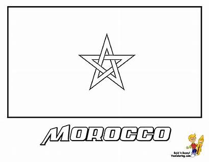 Flag Morocco Coloring Sheets Colouring Sheet Yescoloring