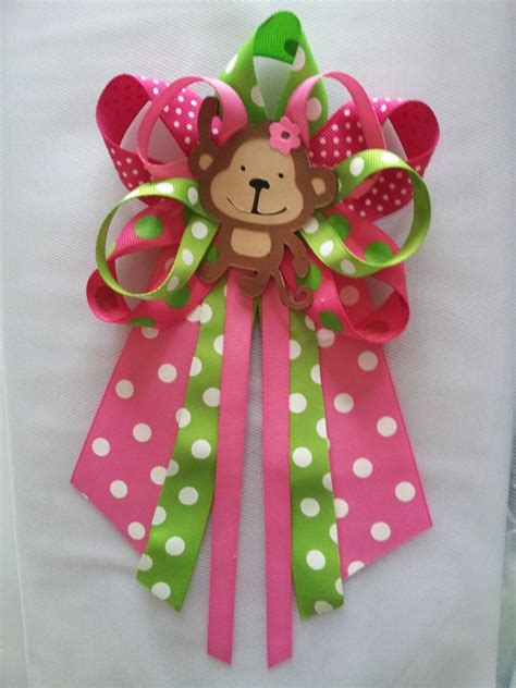 Baby Shower Pins For Corsages Monkey Baby Shower Pin Corsage By Diapercake4less On